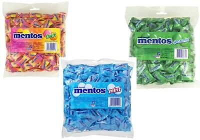 Bulk 1.6kg Mentos Assorted Pillow Pack Favors Mint Fruit Spearmint Minty Chews
