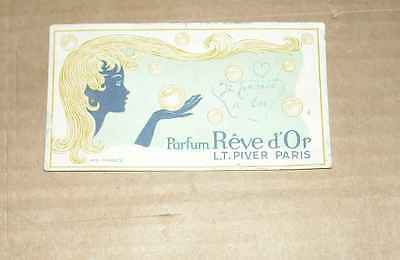 1 Carte Parfum Reve D'or L.t. Piver Paris