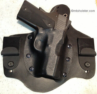 KIMBER ECLIPSE ULTRA II IWB Dual Snap Leather Holster R/H Black