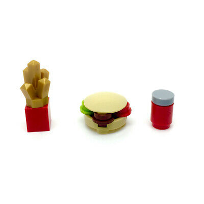LEGO Burger Chips and Drink for Minifigure Food City Town