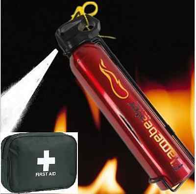 600G Powder Fire Extinguisher With First Aid Kit For Cars Vans Caravan Homes