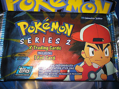 Pokemon Neuf ★ Booster Pack Topps Series 2 ★ Unsearched Non Trie Sacha Ash