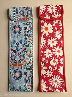 S&W Knitting Needle Case Knitting Pins Cases Red Flower Power Nordic 709KB/738KB