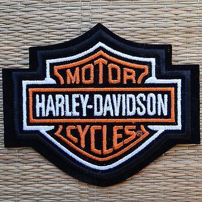 Harley Davidson Classic Orange Logo Sew-on Patch (Small)