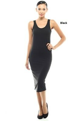 womens Sexy fitted basic Tank Casual Party Midi Dress