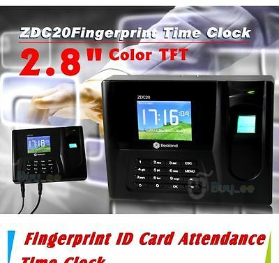 Time Recorder Clocking Attendance in clock Machine Fingerprint+ID Card+Password