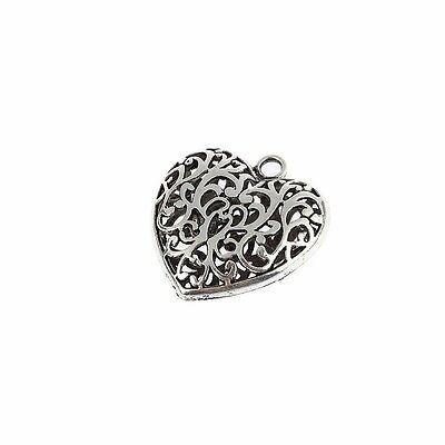 Heart Beads Antique Tibetan Silver Charms Pendant DIY Bracelet 1pcs 35*32mm