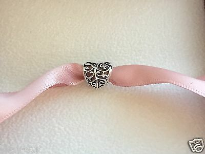 925 Sterling Silver PANDORA Love Openwork Heart Charm with Pouch  Free 1st Class