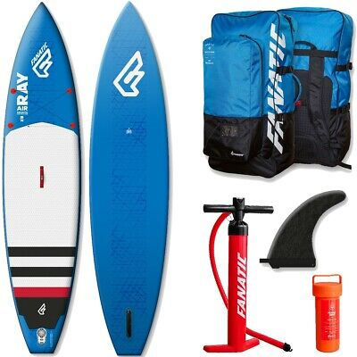 Fanatic Ray Touring Air inflatable SUP 2016 12.6 Stand up Paddle Board blue