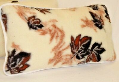 TWO 100% Merino LAMBSWOOL Pillows AUTUMN 45x75cm zipped cover