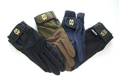MACWET Shooting Gloves - Touch Screen Friendly Long Cuff Green or Black