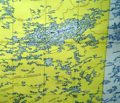 Canadian Government Topographic Map Fort George River Quebec Quadrant 1953