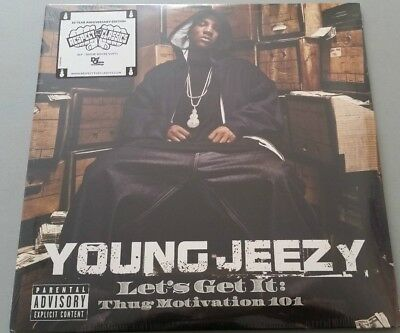 "YOUNG JEEZY ""LET'S GET IT.. 2015 USA  3LP WHITE vinyl pressing new sealed"