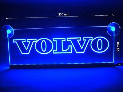 24V Volvo truck LED Neon Plate Interior Cabin Blue Light Illuminating Sign Table