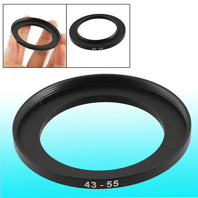 Replacement 43mm-55mm Camera Metal Filter Step Up Ring Adapter
