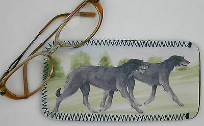 Scottish Deerhound Dog Glass Case Pouch Sandra Coen Artist Watercolour Print