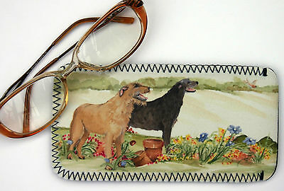 IRISH WOLFHOUND DOG spectacle glasses pouch case Sandra Coen sublimation printed