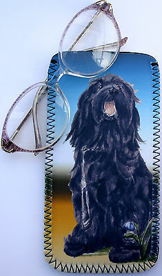 Briard Dog Design Glasses Case Pouch Sandra Coen Artist Watercolour Print