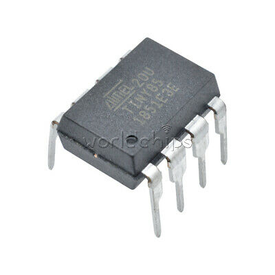ATTINY85-20PU IC MCU 8BIT 8KB FLASH 8DIP New