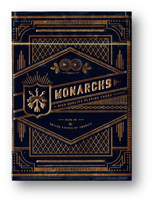 Monarch Black Playing Cards by Theory11 Poker Spielkarten