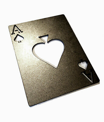 The Titanium Poker Ace of Spades KILL CARD Tactical Military beer bottle opener