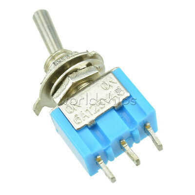 2PCS SPDT MTS-102 3Pin SPDT ON-ON 6A 125V AC Mini Toggle Switch