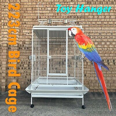 Large 167cm Corner Parrot Aviary Bird Cage With Play Roof Top Ladder Wheels A13B