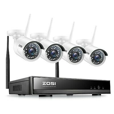 ZOSI 8CH 1080p NVR 2MP Outdoor HD Wireless IP Home Security Camera System Wifi