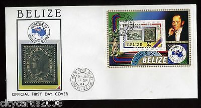 198 BELIZE  Ausipex  M/S  First Day Cover