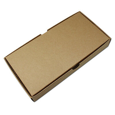 Jewelry Gift Boxes Wedding Favor Party Craft Kraft Paper Packaging Box Lid Tan