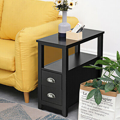 C-Shaped Side Table Sofa Bed Coffee End Tables for Living Room Office Bedroom