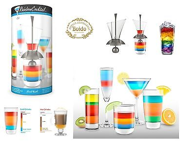Final Touch: Rainbow Cocktail: kit versatore-multicolore per coktail arcobaleno