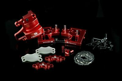 FID Racing Alloy Center Diff Mounts & Adjustable Calipers - Red ,For Losi DBXL