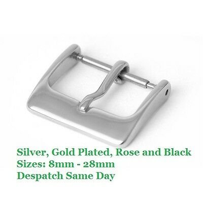 Watch Buckle ...Spare Loose New Watch Strap Buckles ... Choose Colour And Size