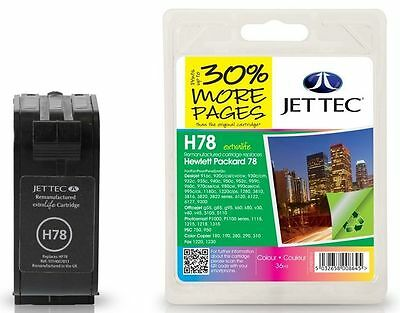 JetTec 78 C6578AE Colour Remanufactured Ink Cartridge for HP - H78