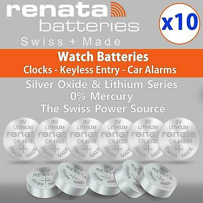 10x Renata Watch Battery Swiss Made - Silver Oxide - Joblot All Sizes Batteries