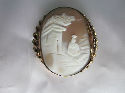 Victorian Gold Filled Carved Cameo Brooch