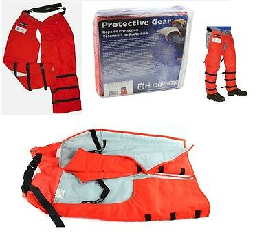 New! Husqvarna Protective Gear Pro Forest Wrap Chaps 5313095-68 / 531309568