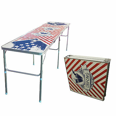 8 foot BeerPong Table by The University of BeerPong (Patriotic)
