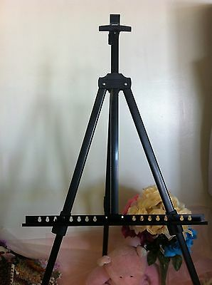 "Tripod Iron Easel Display Exhibition Folding Artist Adjustable Holds25"" high max"