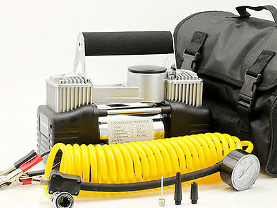 12V Electric Car Air Compressor 4x4 Tyre Inflator Portable Kit Pressure Pump 4WD
