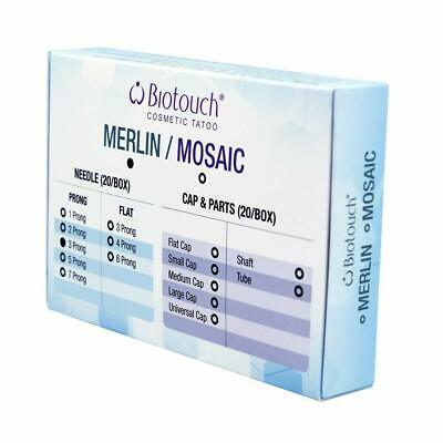ROUND NEEDLES BioTouch Permanent Makeup 3 Prong Deluxe Merlin Machine Bio Touch
