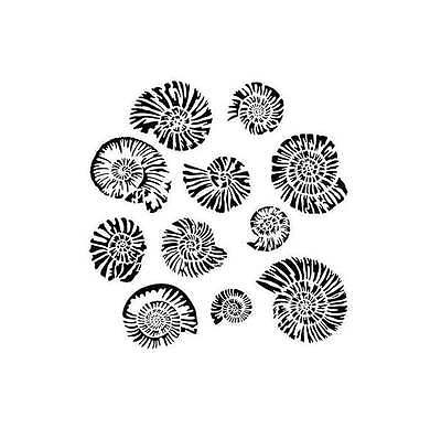 "TCW Crafters Workshop 12"" Stencil Mask Template NAUTILUS Shells, Beach"