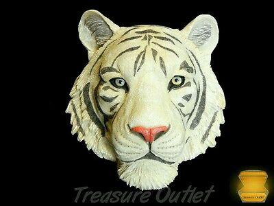 White Bengal Tiger Head Face Wall Decoration Decor Figure