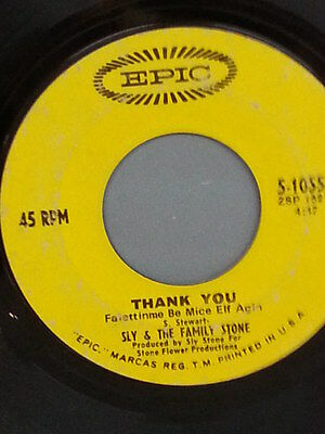 "SLY & THE FAMILY STONE 45 RPM ""Smilin' "" Promotional Radio Station Copy G+ cond"