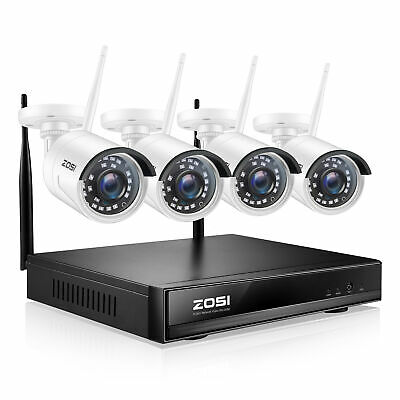 ZOSI 8CH 1080p NVR 2MP HD Outdoor Wireless Home Security IP Camera System Wifi