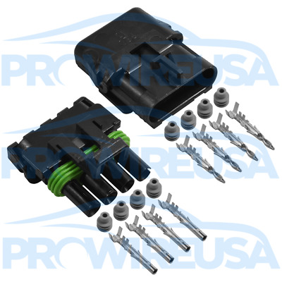 Delphi Weather Pack 4 Pin Sealed Connector Kit 16-14 GA