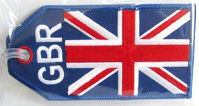 13131 Britain Flag Gbr Airways Airlines Aviation Travel Fabric Luggage Bag Tag