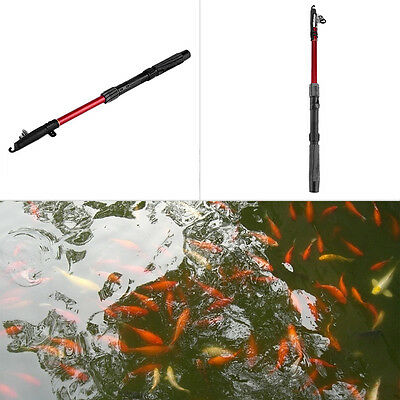Outdoor Fiberglass Sea Telescopic Fishing Rod Pole Fishing Tackle Tool 1.8M F4