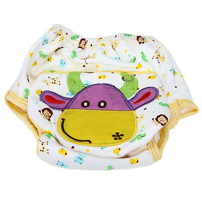 Cotton Toddler Baby Infant Diaper Pant Waterproof Cover Training Cow Print